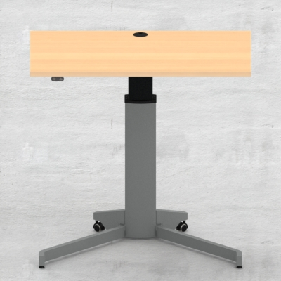 Electric Adjustable Desk | 100x60 cm | Beech with silver frame