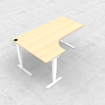 Electric Adjustable Desk | 180x120 cm | Maple with white frame