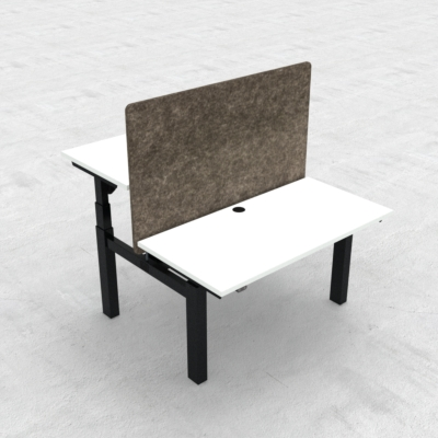 Electric Adjustable Desk | 120x60 cm | White with black frame