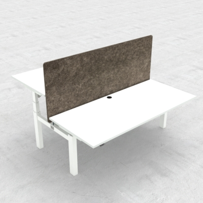 Electric Adjustable Desk | 180x80 cm | White with white frame